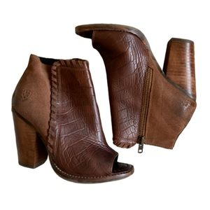 ariat open toe ankle booties